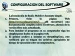 configuracion del software
