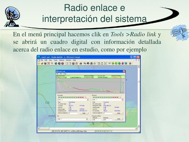Radio enlace e