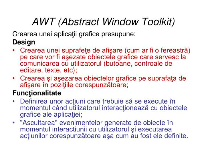 Awt abstract window toolkit
