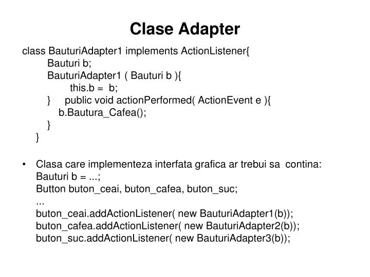 Clase Adapter
