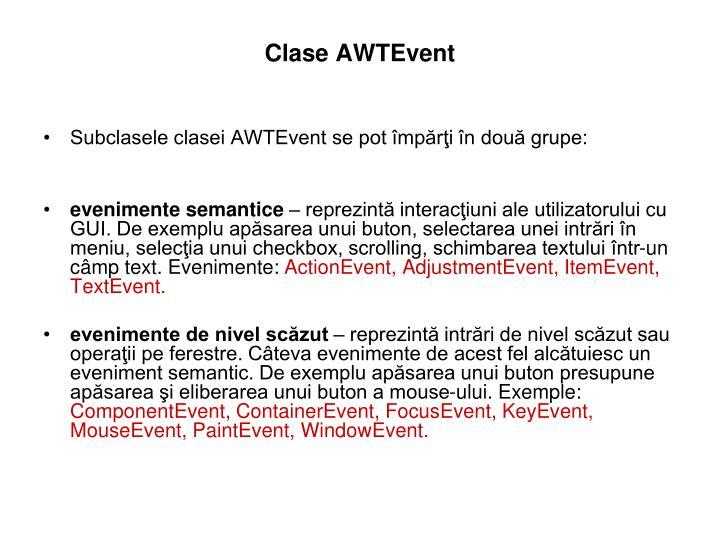 Clase AWTEvent