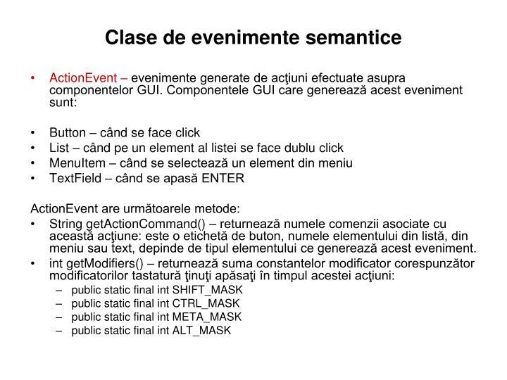 Clase de evenimente semantice