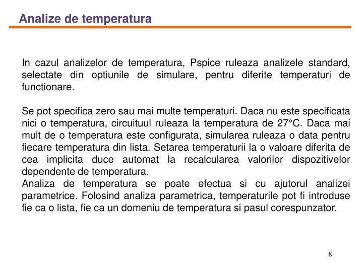 Analize de temperatura