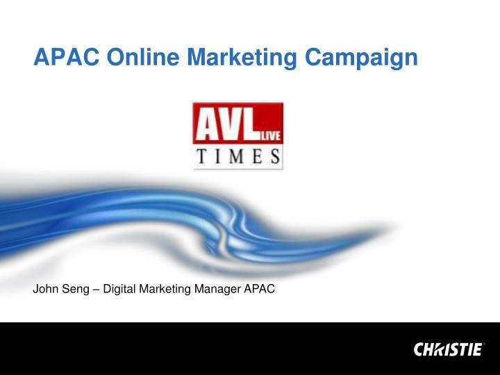 APAC Online Marketing Campaign