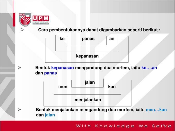 Cara pembentukannya dapat digambarkan seperti berikut :