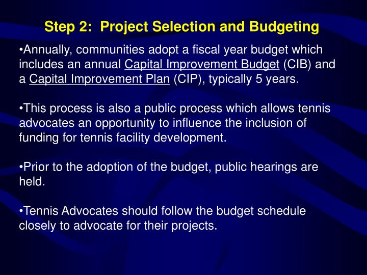 Annually, communities adopt a fiscal year budget which includes an annual