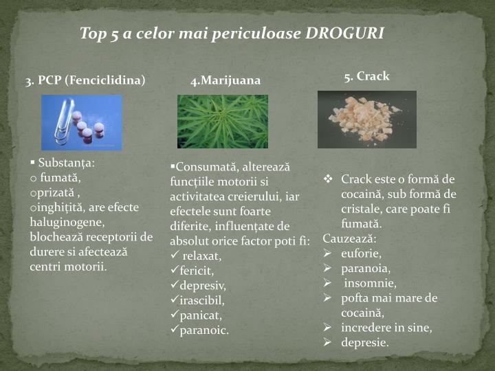 Top 5 a celor mai periculoase DROGURI