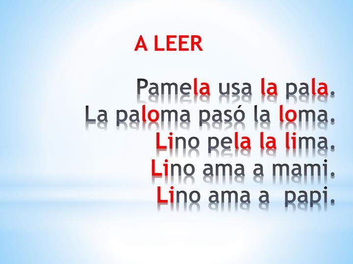 A LEER
