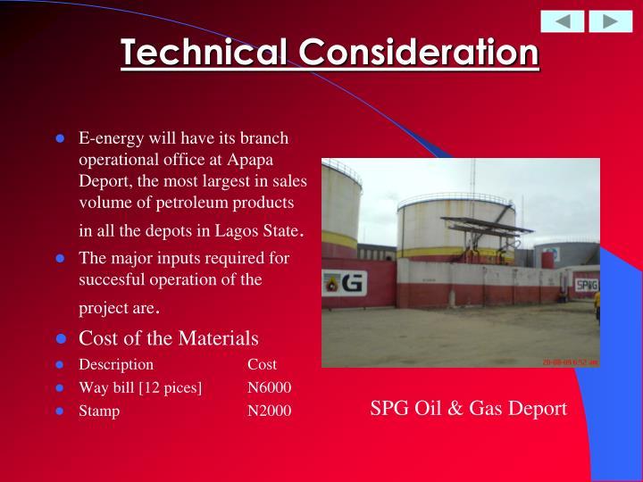 Technical Consideration