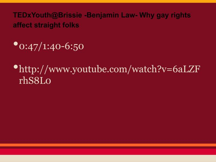 TEDxYouth@Brissie -Benjamin Law- Why gay rights affect straight folks