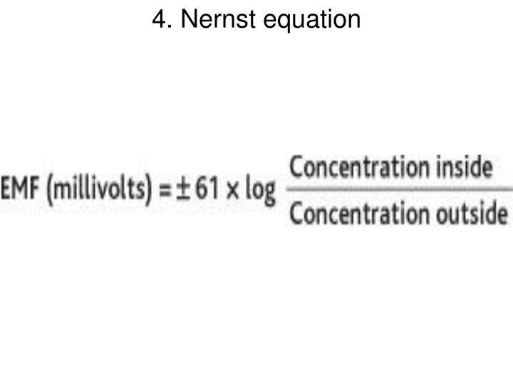 4. Nernst equation