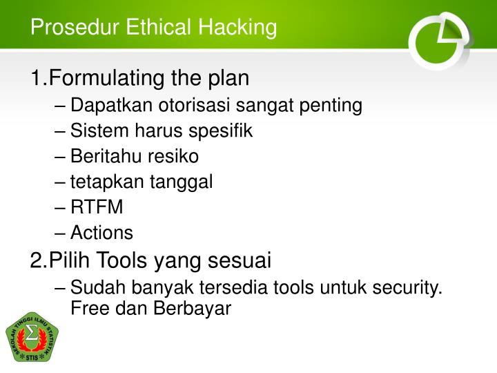 Prosedur Ethical Hacking