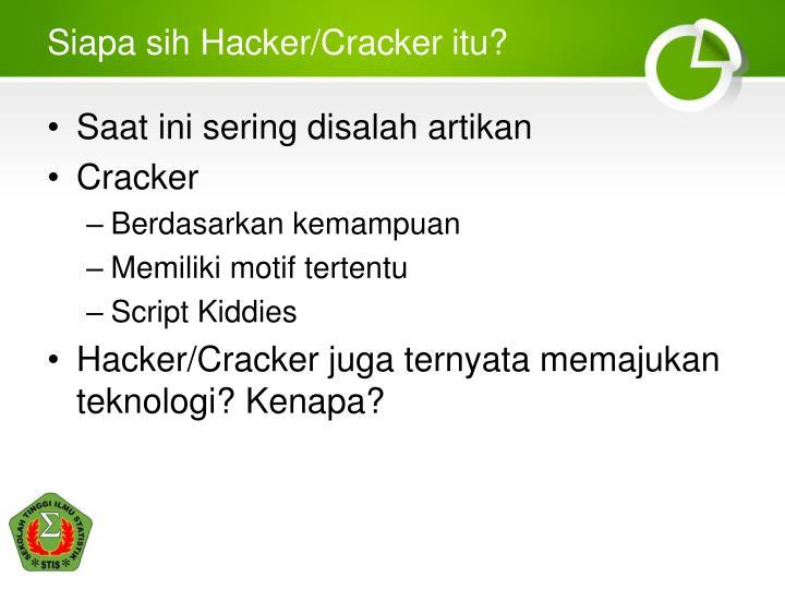 Siapa sih Hacker/Cracker itu?