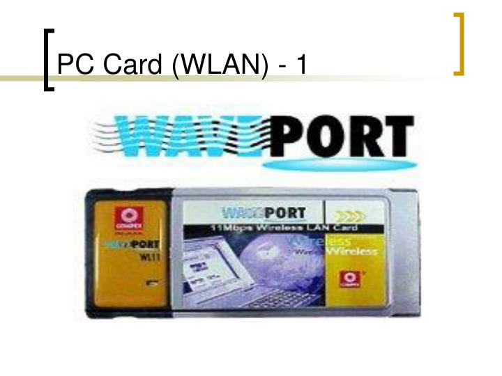 PC Card (WLAN) - 1