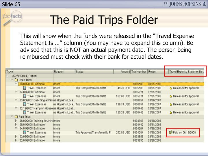 The Paid Trips Folder