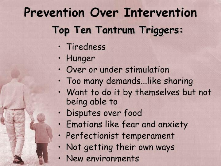 Prevention Over Intervention