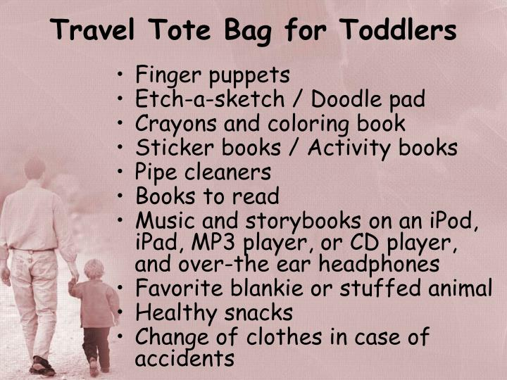 Travel Tote Bag for Toddlers