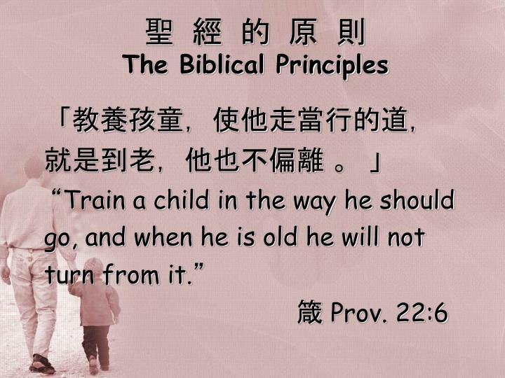聖  經  的  原  則