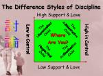 the difference styles of discipline3