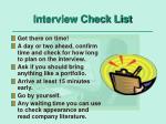 interview check list1
