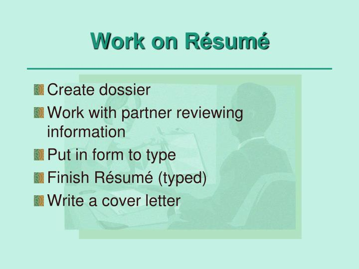 Work on Résumé