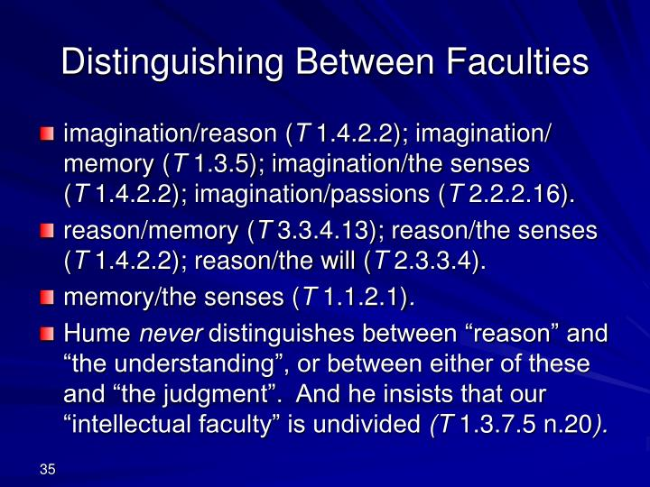 Distinguishing Between Faculties