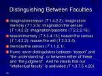 distinguishing between faculties