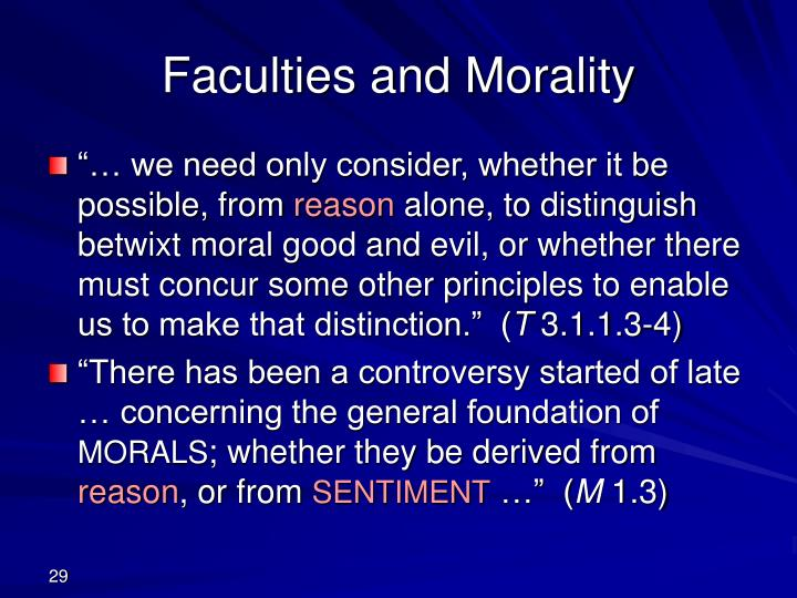 Faculties and Morality