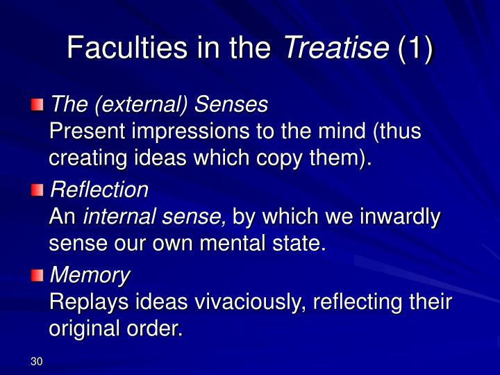 Faculties in the