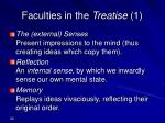 faculties in the treatise 1