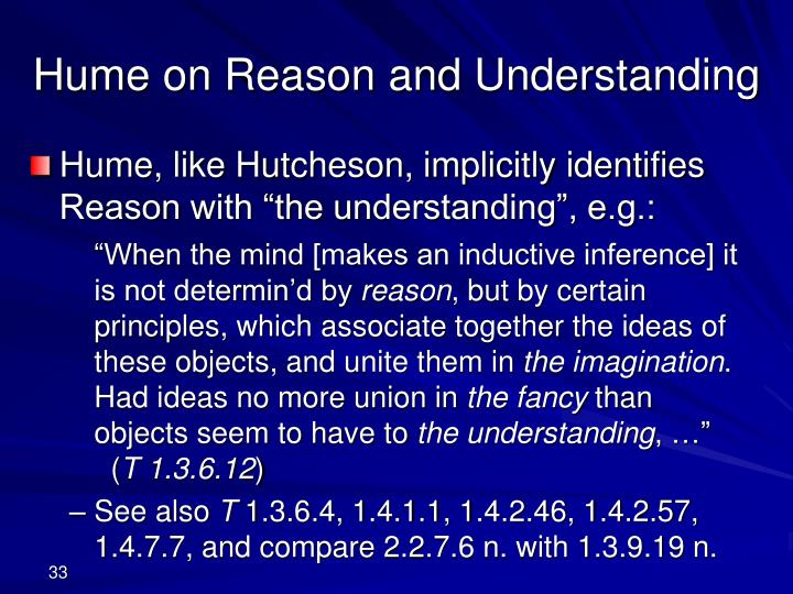 Hume on Reason and Understanding