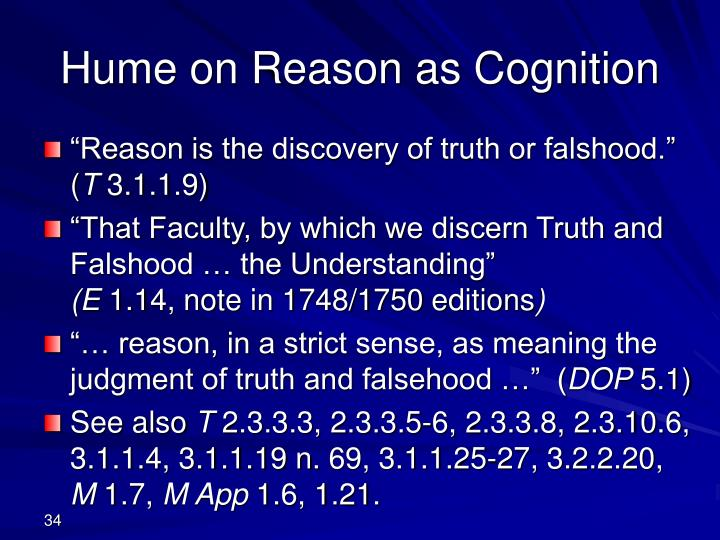 Hume on Reason as Cognition