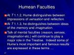 humean faculties