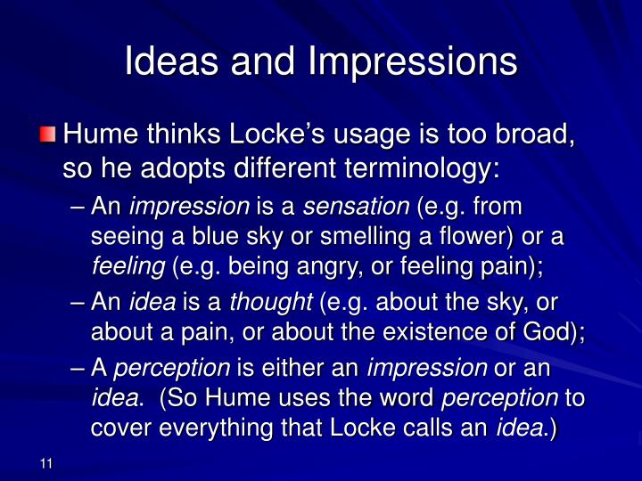 Ideas and Impressions