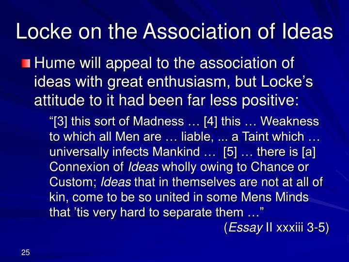 Locke on the Association of Ideas