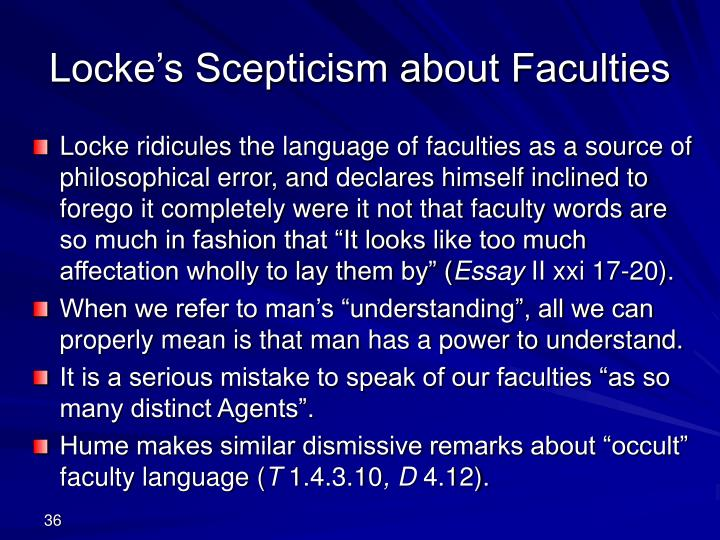 Locke's Scepticism about Faculties