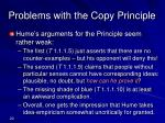problems with the copy principle