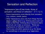 sensation and reflection