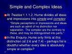 simple and complex ideas