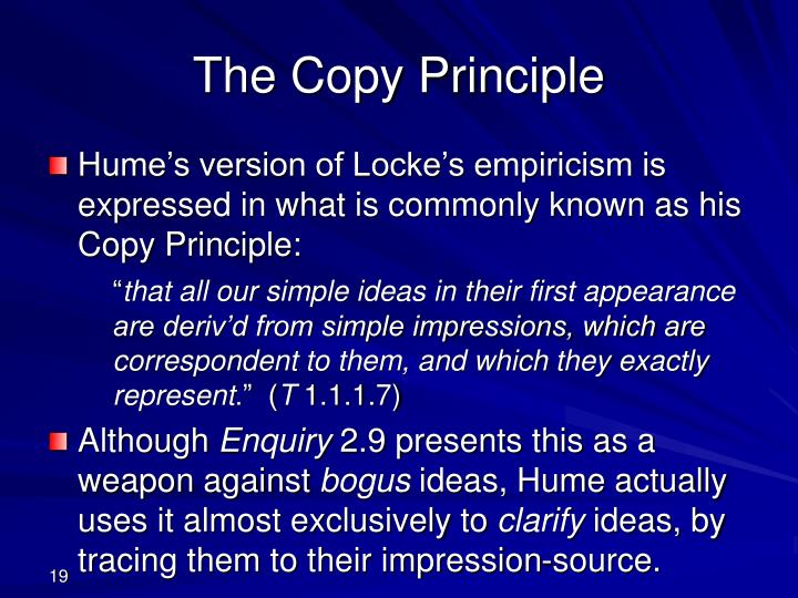 The Copy Principle