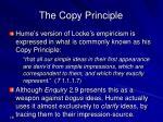 the copy principle
