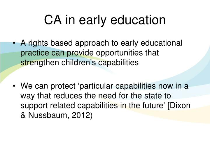 CA in early education