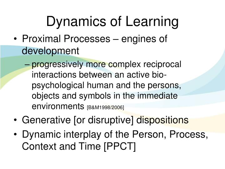 Dynamics of Learning