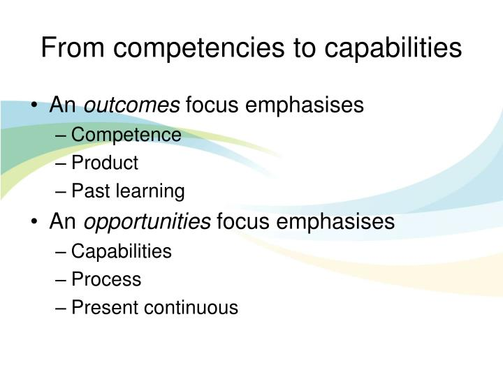 From competencies to capabilities