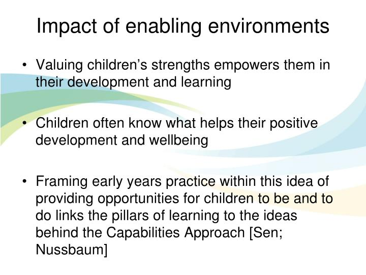 Impact of enabling environments