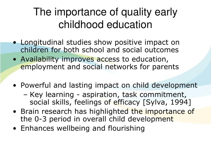 The importance of quality early childhood education