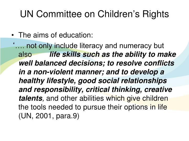UN Committee on Children