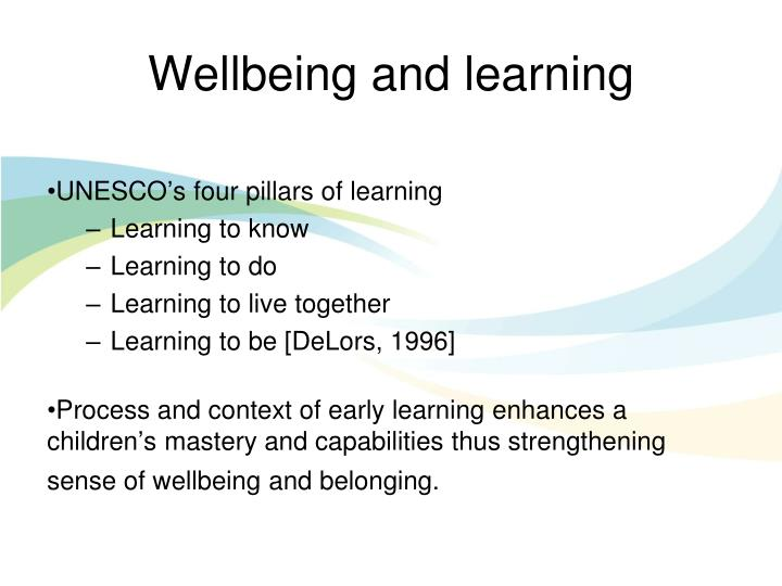 Wellbeing and learning