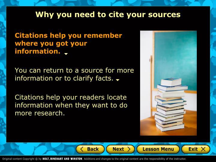 citations help