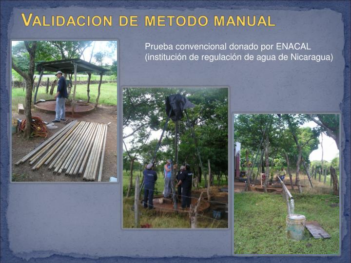 Prueba convencional donado por ENACAL